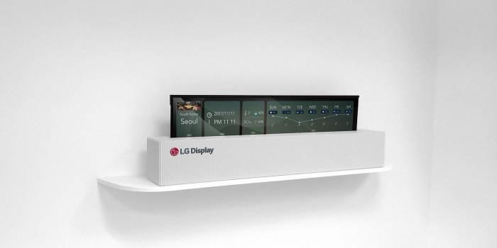 LG dévoile un téléviseur pliable