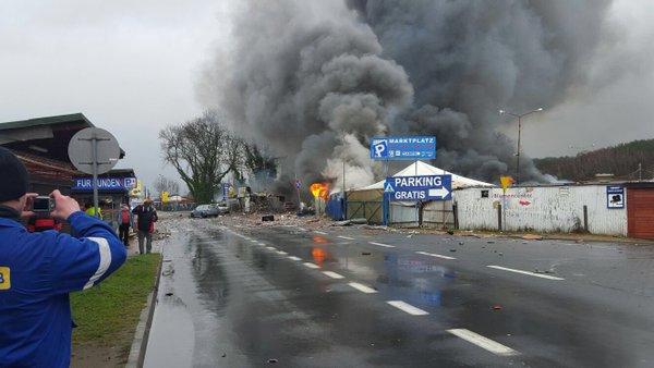 Violente explosion à la frontière entre l`Allemagne et la Pologne