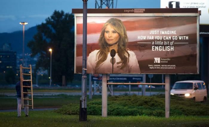 Melania Trump fait retirer des affiches utilisant son image en Croatie