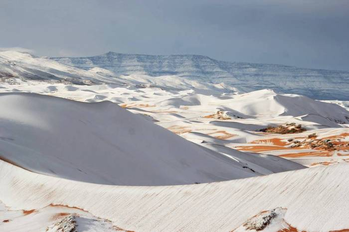Il a neigé au Sahara