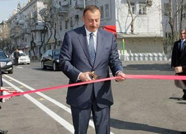 İlham Əliyev Cəlilabadda yolun açılışında iştirak edib