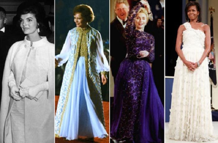 First Ladies` Inaugural Fashion Through the Years -