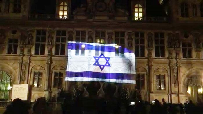 La mairie de Paris sera illuminée aux couleurs du drapeau israélien