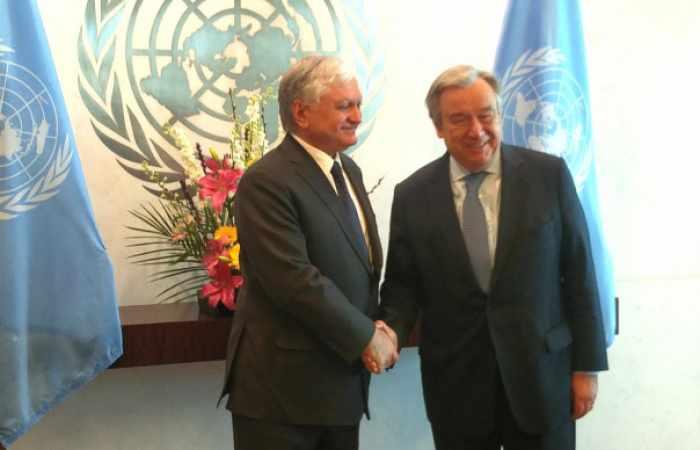 Un chief Guterres and Armenian FM discuss the Nagorno-Karabakh conflict