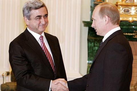 """Putin Yerevanda """"erməni soyqırım""""ı abidəsini ziyarət edib"""