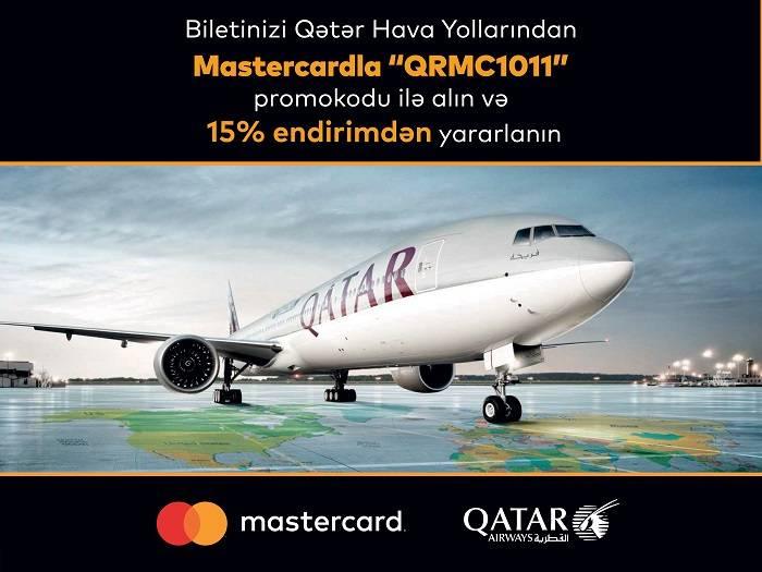 """""""Mastercard"""" və """"Qətər Hava Yolları"""" endirim kampaniyasına start verdi"""