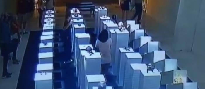 Woman's selfie causes '$200,000 of damage' to artworks – VIDEO