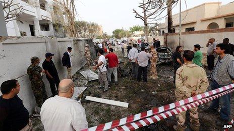 French embassy in Libya hit by `car bomb` in Tripoli