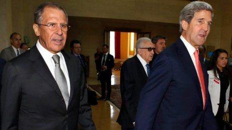 Lavrov, Kerri və Brahimi görüşdü