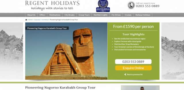 La compagnie britannique va organiser les visites dans les territoires azerbaïdjanais occupés