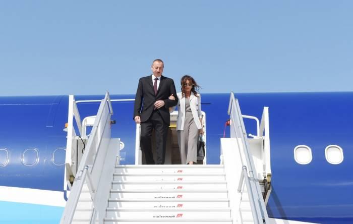 İlham Əliyev xanımı ilə Amerikaya gedib - FOTO