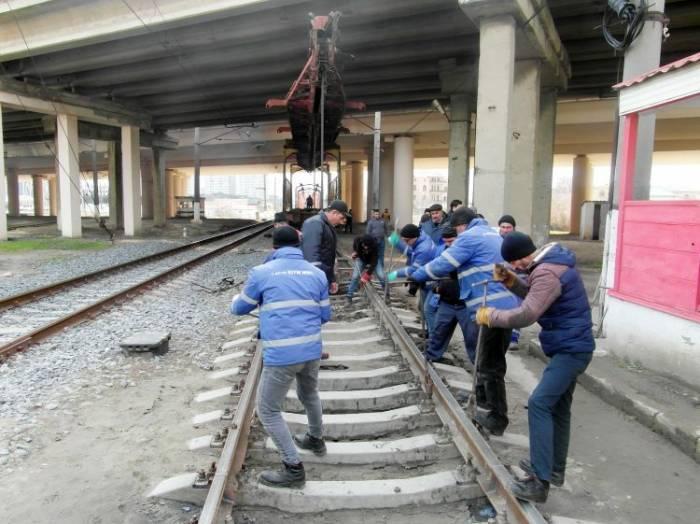 Bakı–Sumqayıt dairəvi dəmir yolu təmir edilir