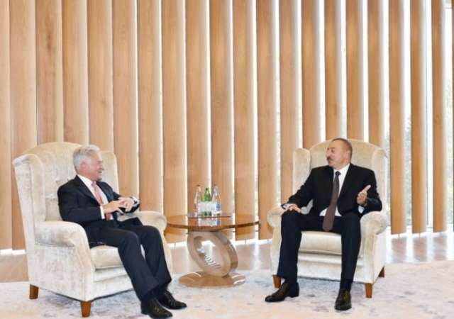 President Ilham Aliyev meets with UK Minister of State