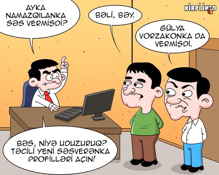 Ayka Səsverənka, lideri də uduzanka – KARİKATURA