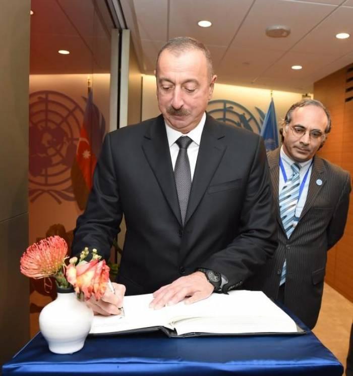 Ilham Aliyev traf sich mit UN-Generalsekretär Guterres