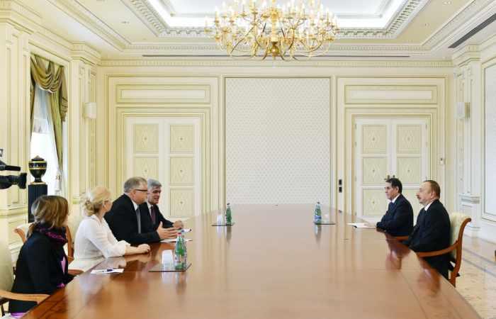 Präsident Ilham Aliyev empfängt Delegation um EU-Sonderbeauftragten für Südkaukasus