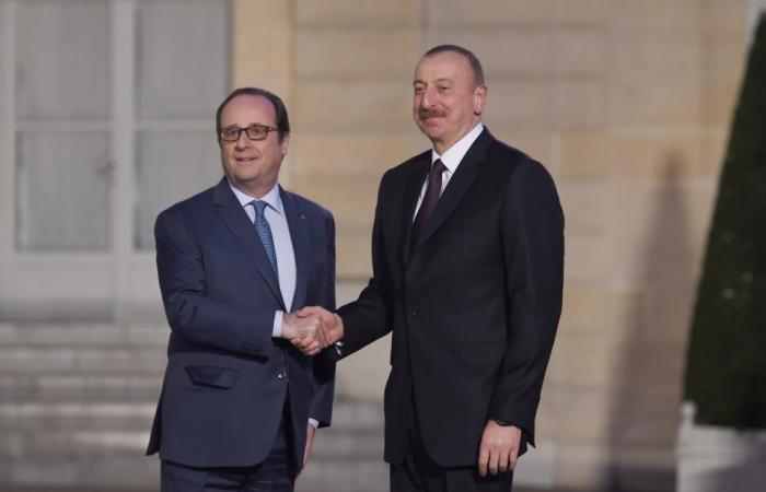 Treffen zwischen Präsident Ilham Aliyev und Präsident François Hollande