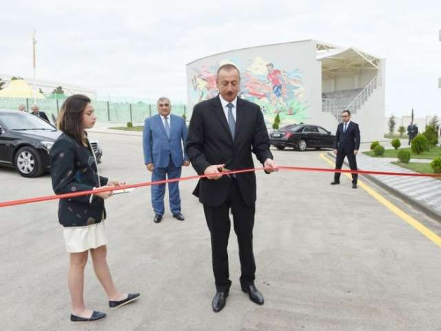 Ilham Aliyev attends opening of Zugulba training and sports base - PHOTOS