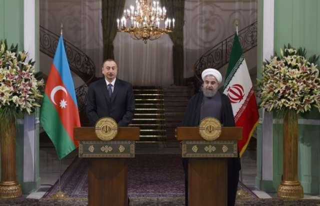 Gemeinsame Presseerklärung von Präsidenten Ilham Aliyev und Hassan Rohani