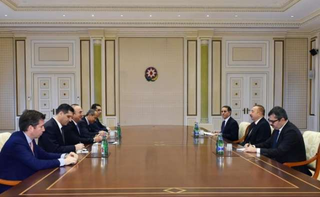 President Ilham Aliyev receives Turkish FM Cavusoglu