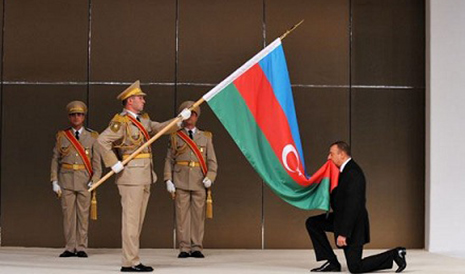 Azerbaijani president takes the oath