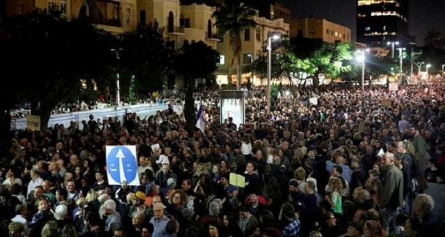 Tens of thousands join rally against Israeli PM Netanyahu - VIDEO