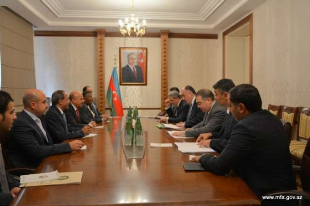 Azerbaijani FM receives delegation of Cooperation Council for Arab States of Gulf