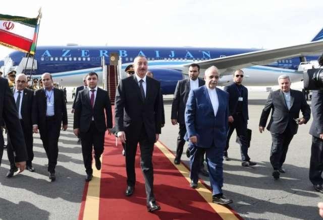 President Ilham Aliyev arrives in Tehran