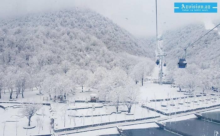 Azərbaycana 33 sm qar yağıb - Faktiki hava şəraiti