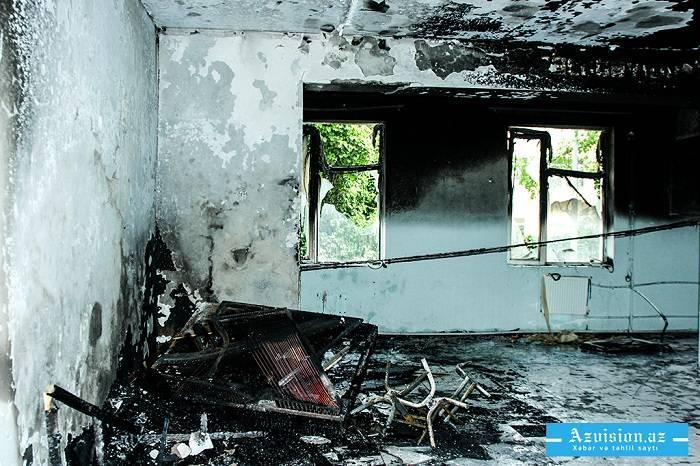 Zərdabda 3 otaqlı ev yanıb