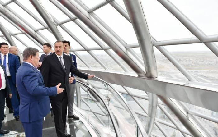Prezident Astanada Azərbaycan pavilyonunda - FOTOLAR