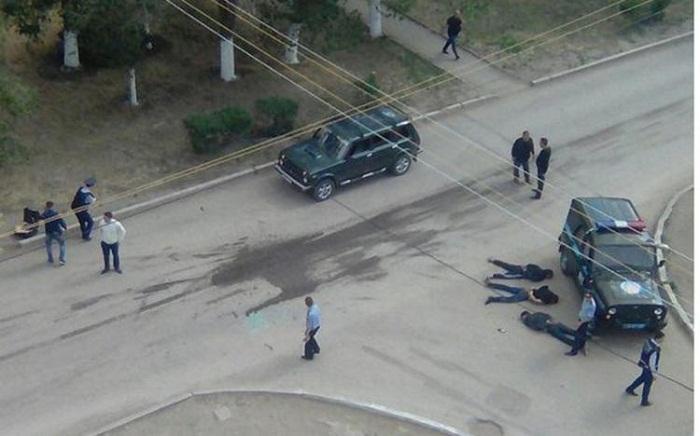 Qazaxıstanda atışma: Yaralılar var (VİDEO)