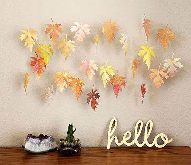 Gorgeous ways to craft with Fall Leaves - PHOTOS