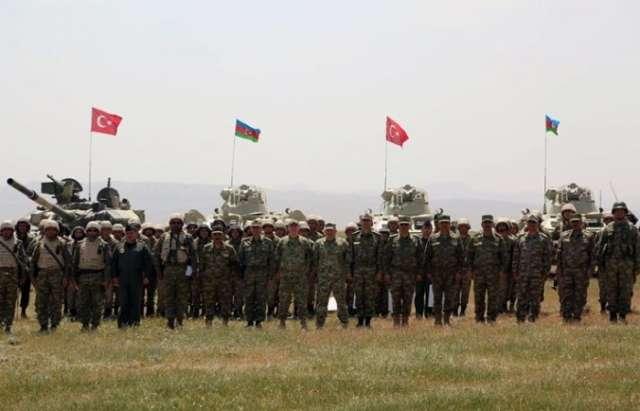 Azerbaijani, Turkish, Georgian high-ranking military officials observe Azerbaijani-Turkish joint exercises - PHOTOS, VIDEO