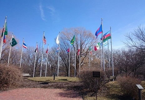 Azerbaijani flag raised in Skokie, Illinois