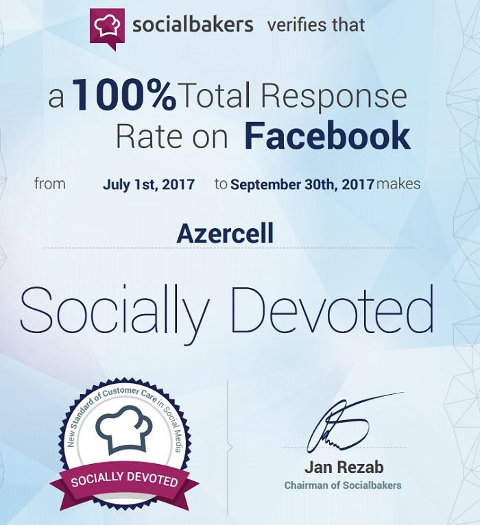 Azercell-dən bir daha 100 %-lik nəticə