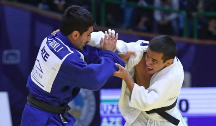 Azerbaijani judo fighter claims gold at Tashkent Grand Prix