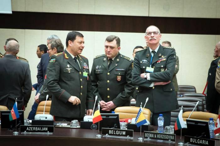 Nəcməddin Sadıkov NATO-nun iclasında - FOTOLAR