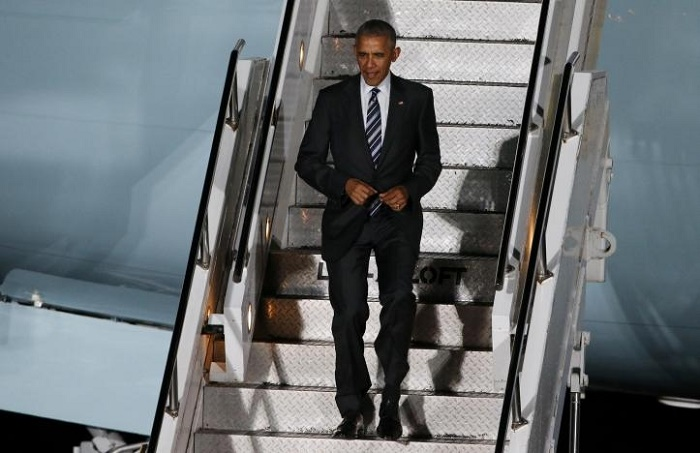 Obama lands in Berlin for farewell visit to closest ally Merkel