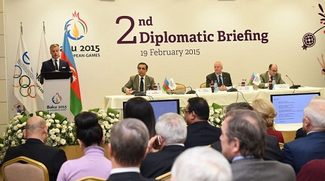 Baku 2015 European Games hosts second diplomatic briefing