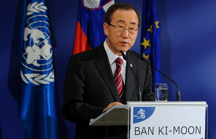 Ban Ki-moon urges US to shun 'powerful interests' and adopt universal healthcare