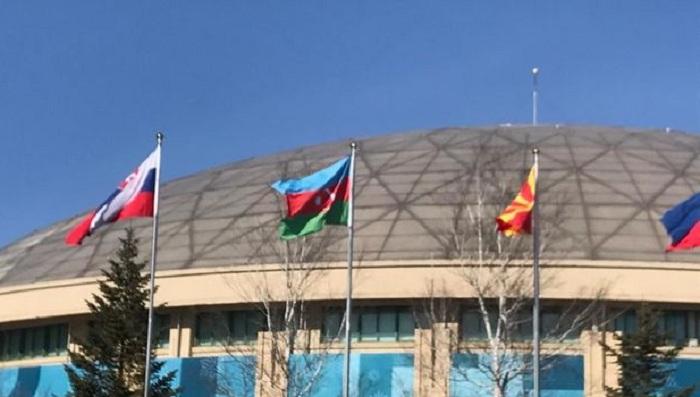 Cənubi Koreyada Azərbaycan bayrağı qaldırıldı