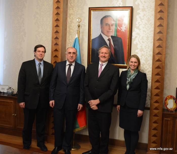 Məmmədyarov amerikalı diplomatlara Qarabağı müzakirə edib