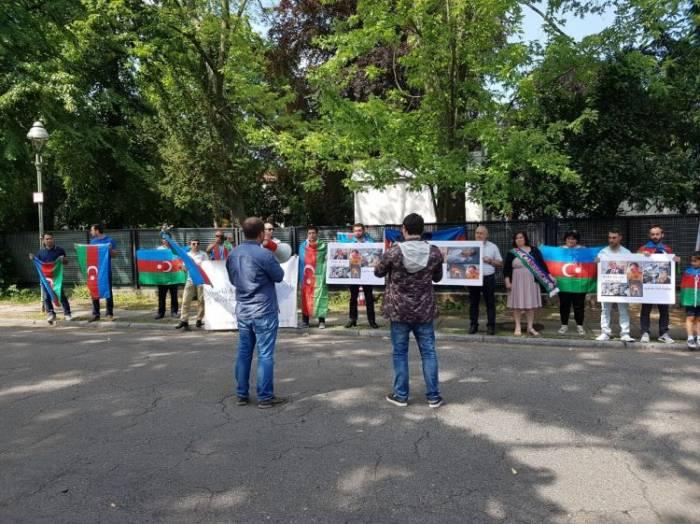 Berlində Ermənistana qarşı aksiya keçirilib