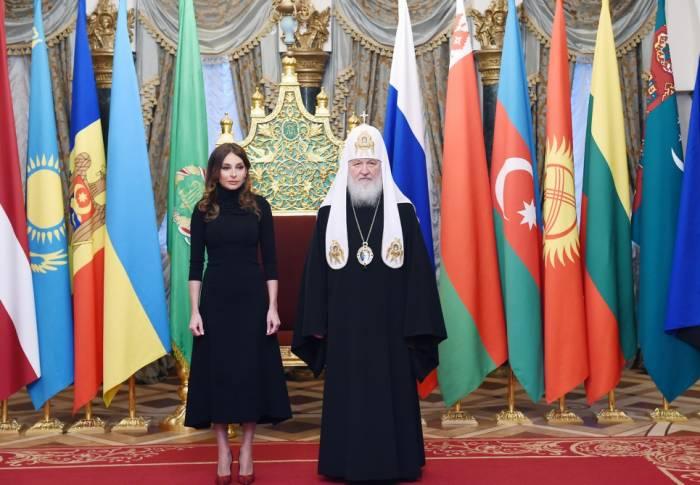 Mehriban Əliyevaya Moskvada yüksək orden təqdim edildi - FOTOLAR