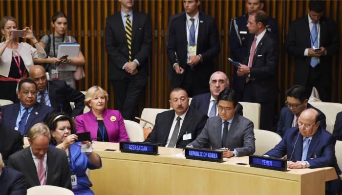 Ilham Aliyev s'adressera aujourd'hui à l'Assemblée générale de l'ONU