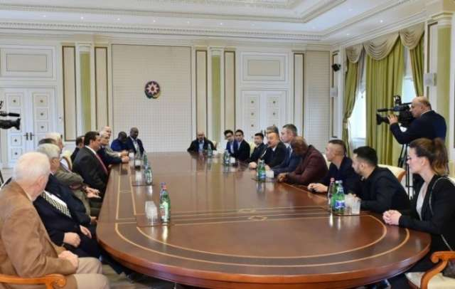 President Aliyev receives participants of 55th Annual Convention of World Boxing Council