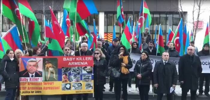 Azerbaijanis held protest rally outside European Parliament - PHOTOS