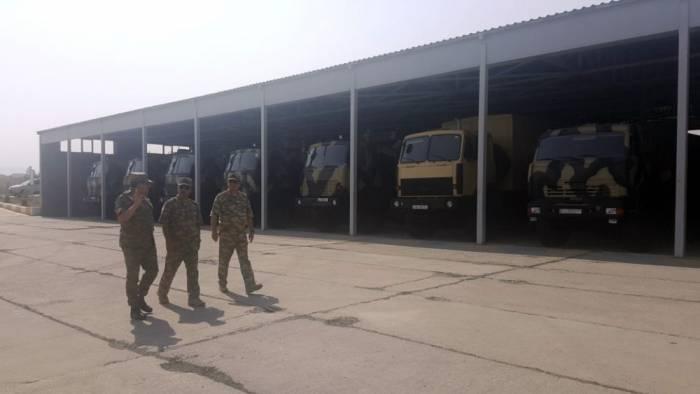 Müdafiə naziri hərbi obyektlərin açılışında - FOTOLAR