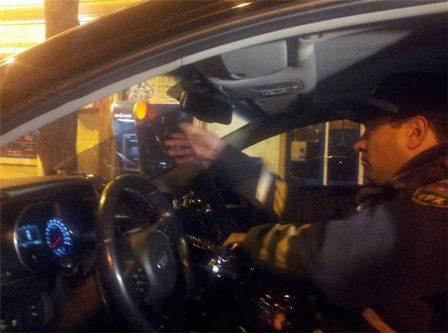 Bakıda polis general oğlunu saxladı - FOTO